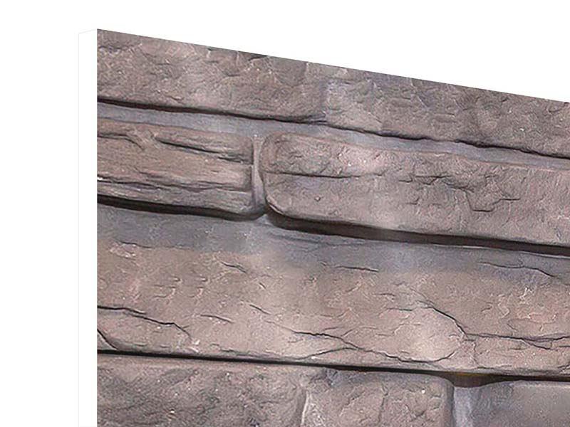Hartschaumbild 3-teilig modern Luxusmauer