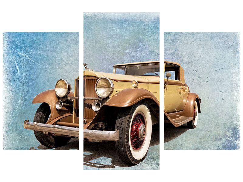 Hartschaumbild 3-teilig modern Nostalgischer Oldtimer