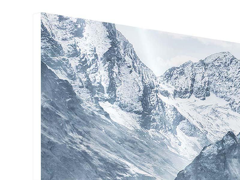 Hartschaumbild 3-teilig modern Gigantische Berggipfel