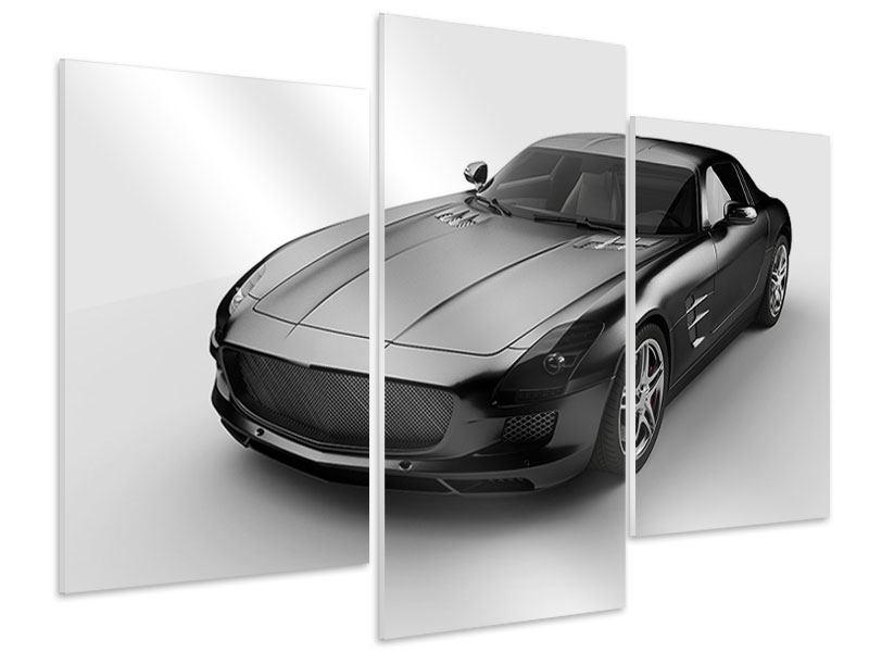 Hartschaumbild 3-teilig modern 007 Auto