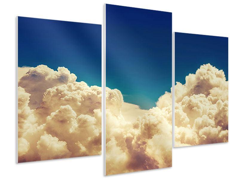 Hartschaumbild 3-teilig modern Himmelswolken