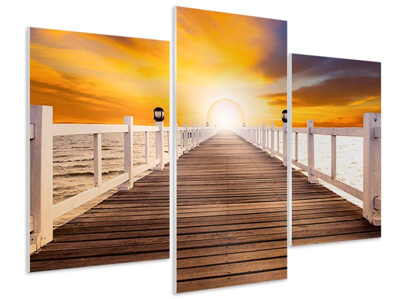 Hartschaumbild 3-teilig modern Die Brücke Ins Glück