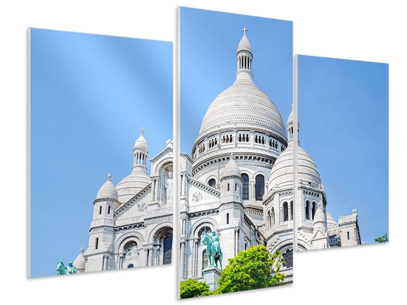 Hartschaumbild 3-teilig modern Paris- Montmartre