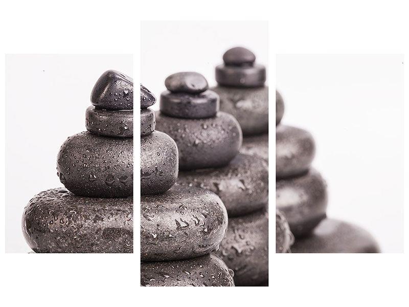 Hartschaumbild 3-teilig modern Die Kraft der Steine