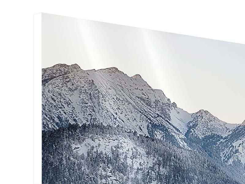 Hartschaumbild 3-teilig modern Schloss Neuschwanstein im Ammergebierge