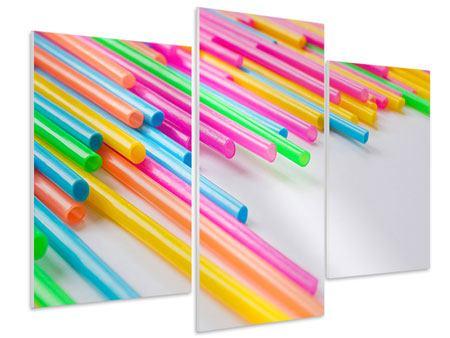 Hartschaumbild 3-teilig modern Pop Art