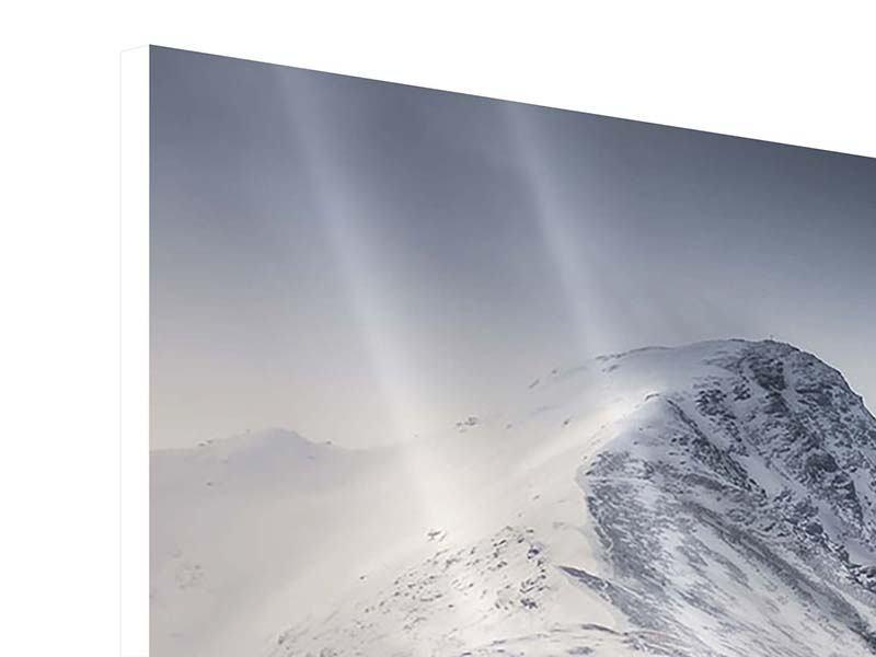 Hartschaumbild 3-teilig modern Die Berge der Schweiz