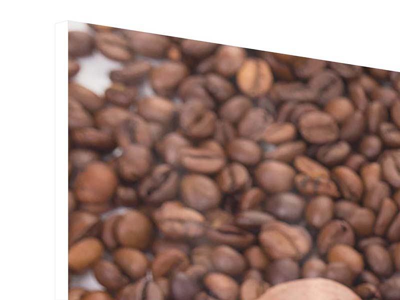 Hartschaumbild 3-teilig modern Pausenkaffee