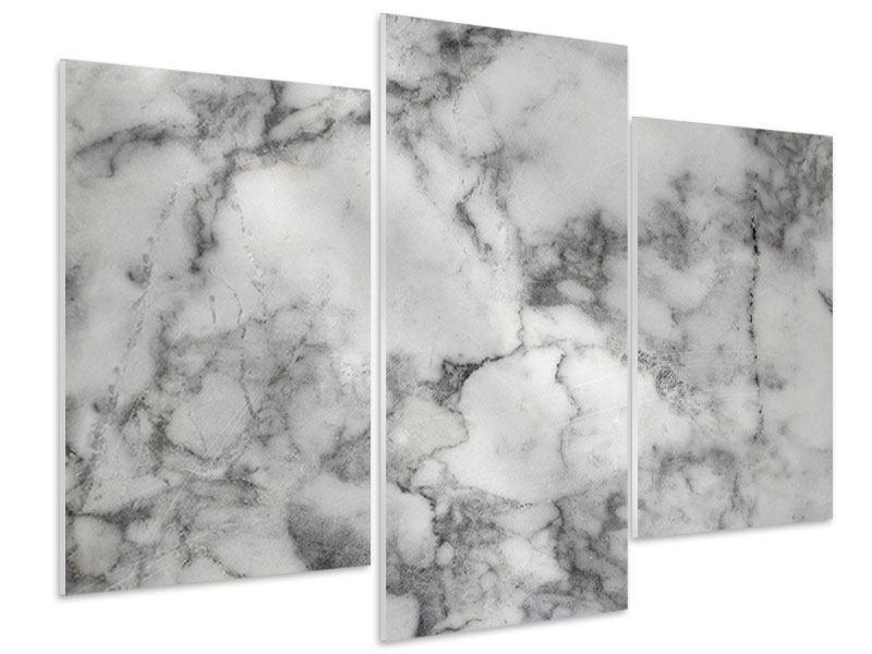 Hartschaumbild 3-teilig modern Klassischer Marmor