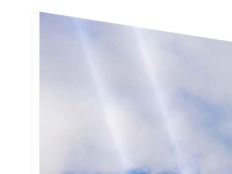 Hartschaumbild 3-teilig modern Der stille Berg