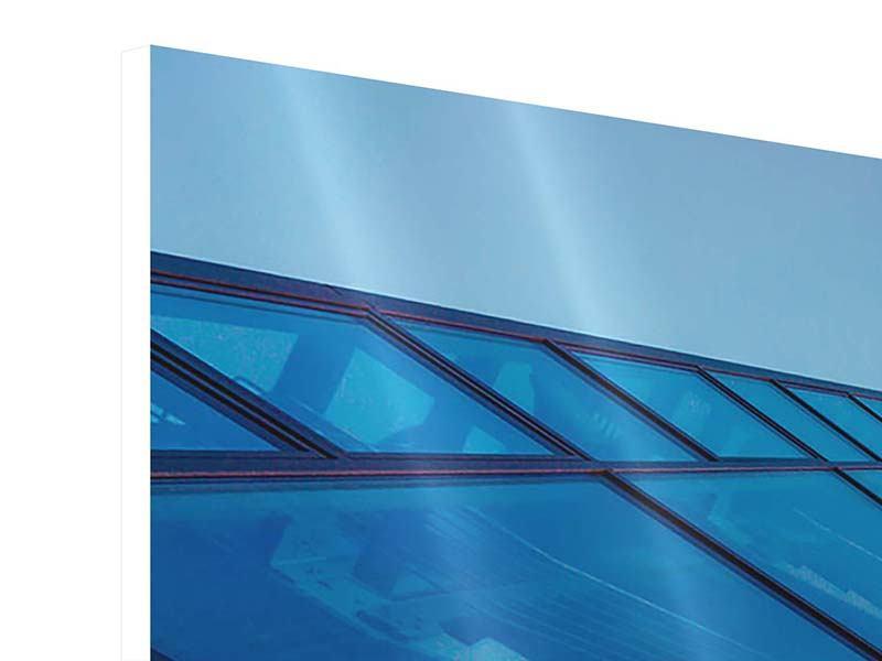 Hartschaumbild 3-teilig modern Wolkenkratzer-Highlight