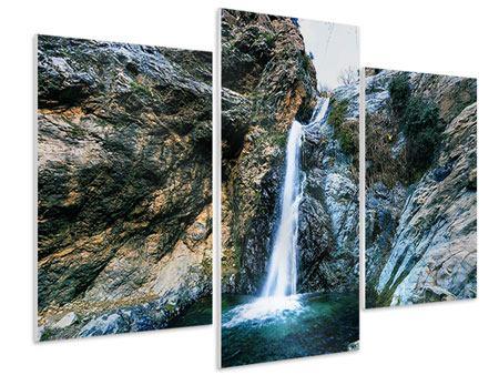 Hartschaumbild 3-teilig modern Bewegtes Wasser
