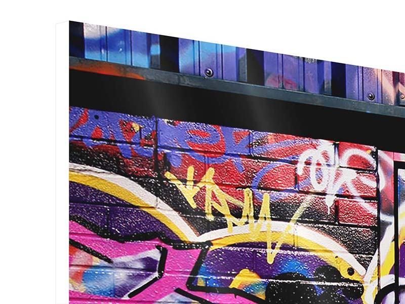 Hartschaumbild 3-teilig modern Graffiti Kunst