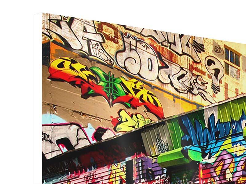 Hartschaumbild 3-teilig modern NY Graffiti