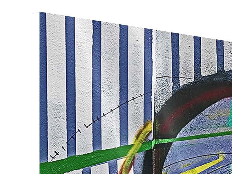Hartschaumbild 3-teilig modern Künstlerisches Graffiti