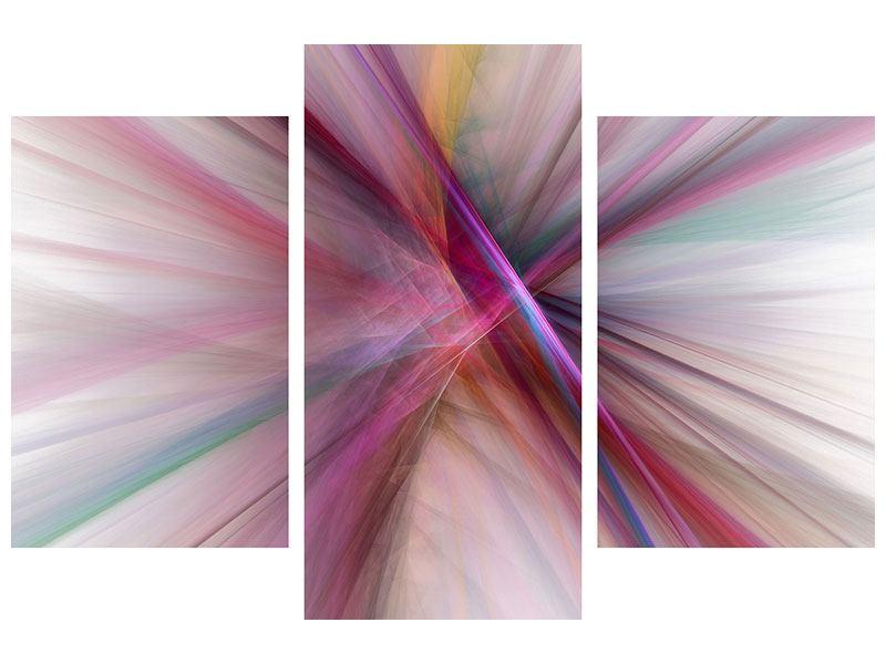 Hartschaumbild 3-teilig modern Abstraktes Lichterleuchten