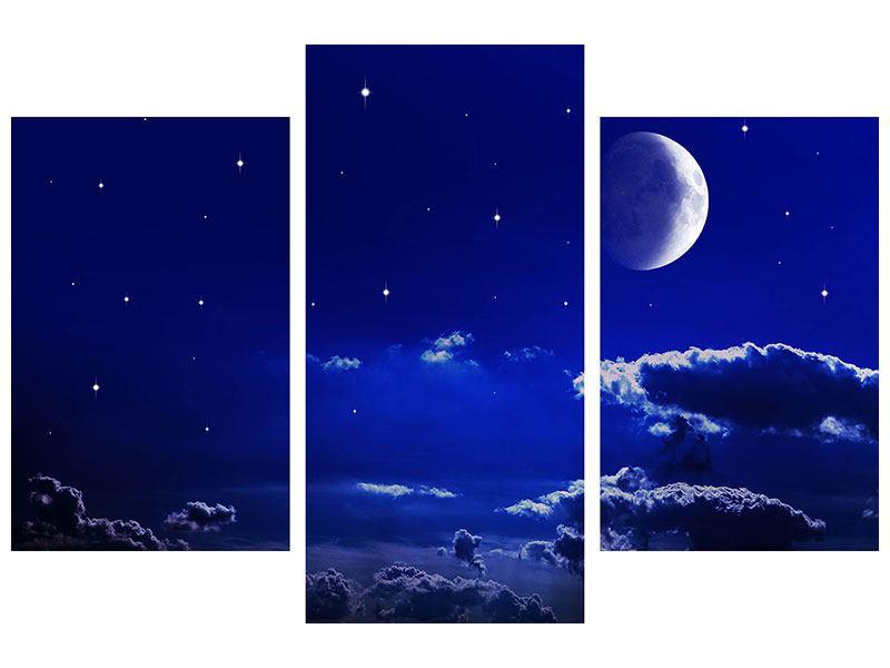 Hartschaumbild 3-teilig modern Der Nachthimmel