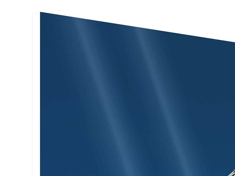 Hartschaumbild 3-teilig modern Meisterstück Wolkenkratzer