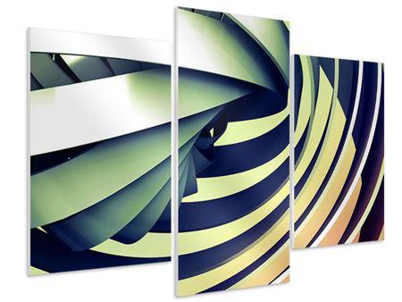 Hartschaumbild 3-teilig modern Abstrakte Perspektiven