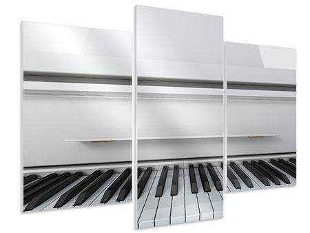 Hartschaumbild 3-teilig modern Weisser Flügel