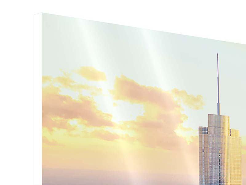 Hartschaumbild 3-teilig modern Skyline Chicago