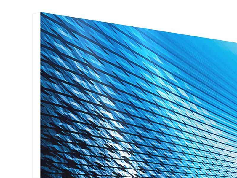Hartschaumbild 3-teilig modern Laser