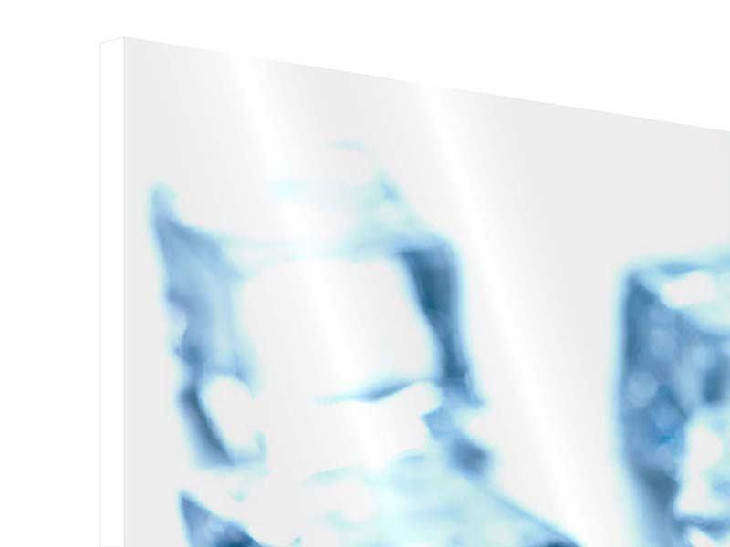 Hartschaumbild 3-teilig modern Viele Eiswürfel