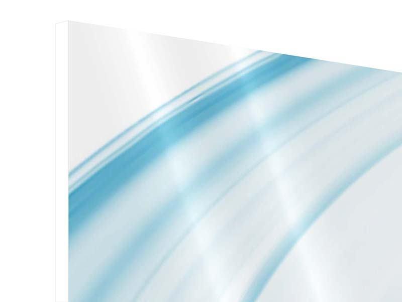 Hartschaumbild 3-teilig modern Abstraktes Glas