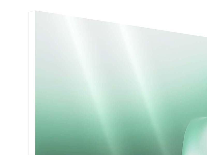 Hartschaumbild 3-teilig modern Abstrakt Tuchfühlung