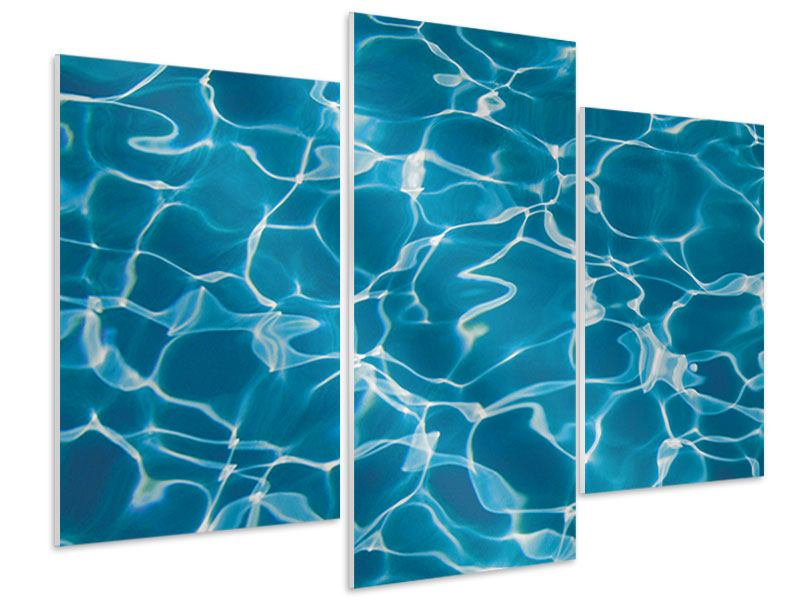 Hartschaumbild 3-teilig modern Pool