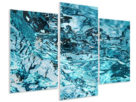 Hartschaumbild 3-teilig modern Schönheit Wasser
