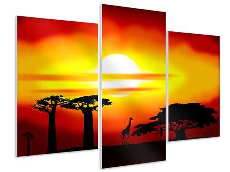 Hartschaumbild 3-teilig modern Faszination Afrika