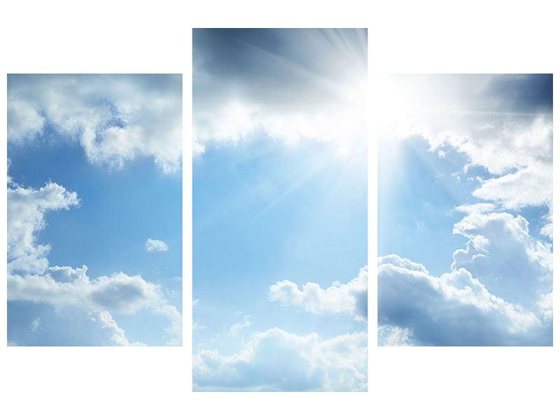 Hartschaumbild 3-teilig modern Himmelshoffnung