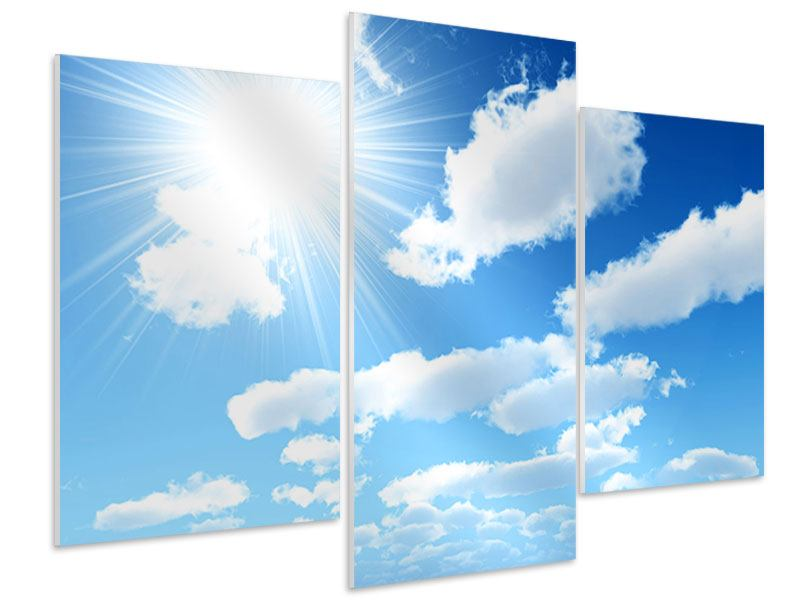 Hartschaumbild 3-teilig modern Am Himmel