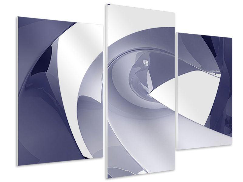 Hartschaumbild 3-teilig modern Abstrakte Schwingungen