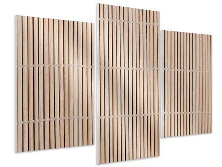 Hartschaumbild 3-teilig modern Lucky Bamboo