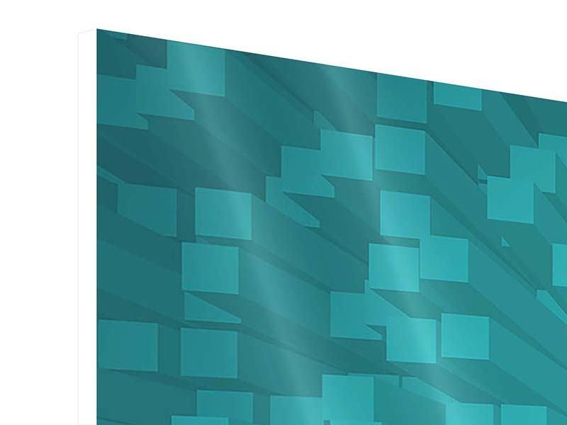 Hartschaumbild 3-teilig modern 3D-Kubusse