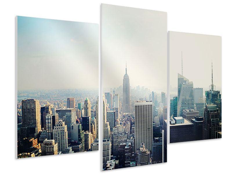 Hartschaumbild 3-teilig modern NYC