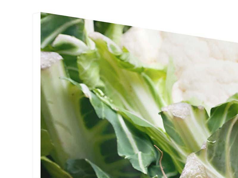 Hartschaumbild 3-teilig modern Gemüse