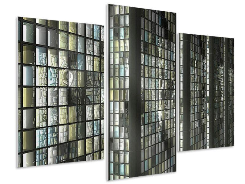 Hartschaumbild 3-teilig modern Windows