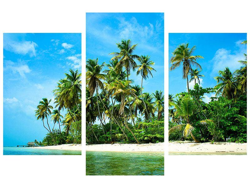 Hartschaumbild 3-teilig modern Reif für die Ferieninsel