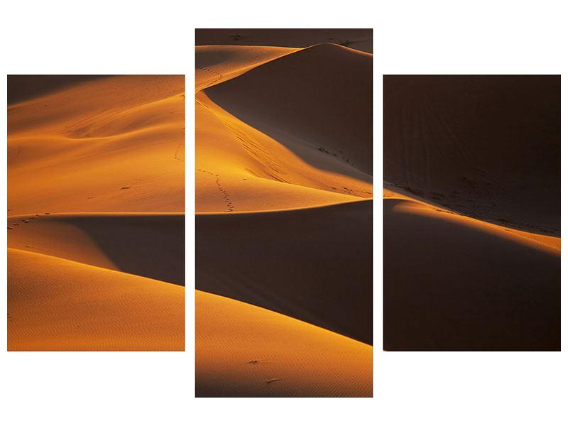 Hartschaumbild 3-teilig modern Wüstensand
