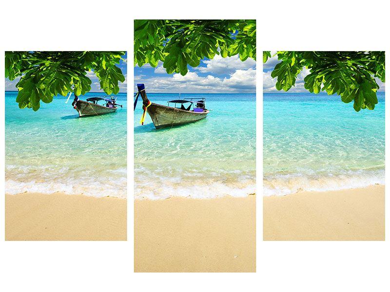 Hartschaumbild 3-teilig modern Ein Blick auf das Meer