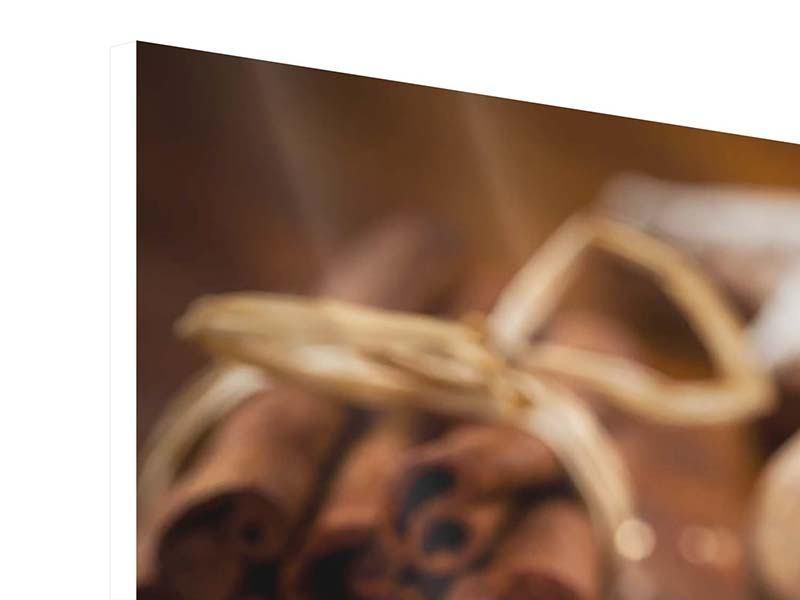 Hartschaumbild 3-teilig modern Weihnachtsgewürze