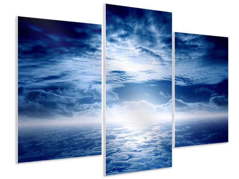 Hartschaumbild 3-teilig modern Mystischer Himmel