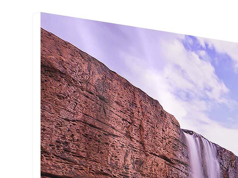 Hartschaumbild 3-teilig modern Himmlischer Wasserfall