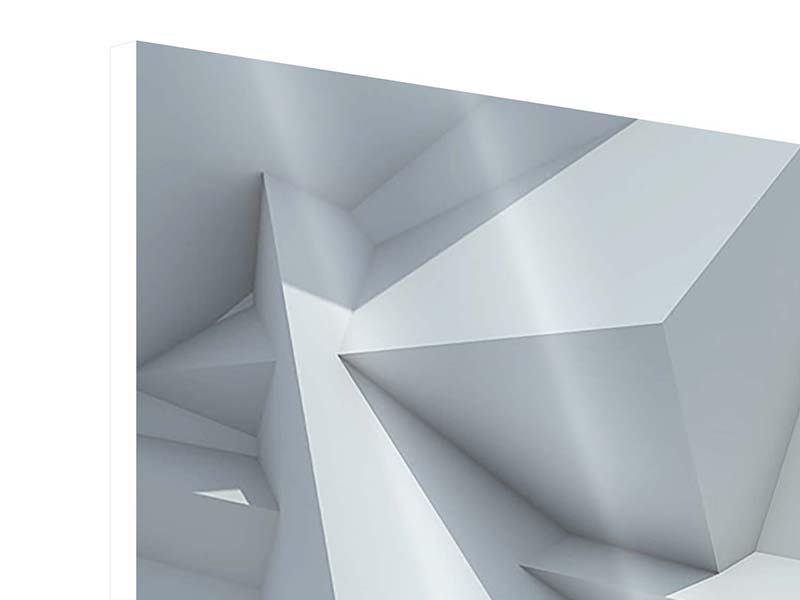 Hartschaumbild 3-teilig modern 3D-Kristallo