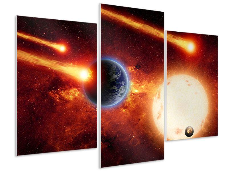 Hartschaumbild 3-teilig modern Der Kosmos