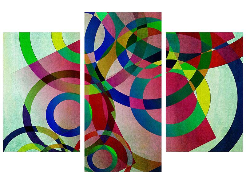 Hartschaumbild 3-teilig modern Wandkunst