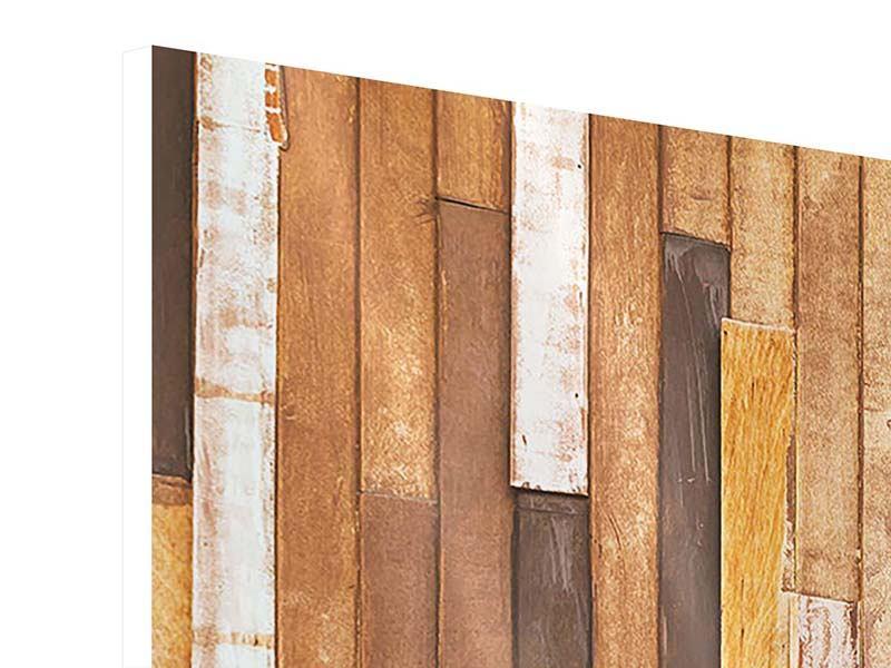 Hartschaumbild 3-teilig modern Designholz